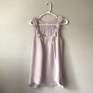 Wilfred dusty lilac silk ruffle blouse